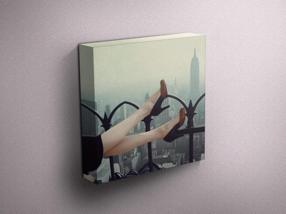 """High Heels over Manhattan - Fine Art Photograph on Gallery Wrapped Canvas - 16x12"""" & more"""