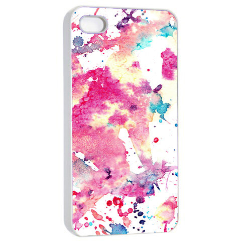 Watercolor Abstract Art - Hard Cover Case for iPhone 4, 4S & more