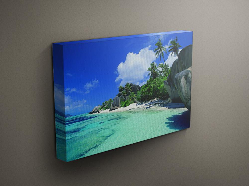 """Tropical Beach - Fine Art Photograph on Gallery Wrapped Canvas - 16x12"""" & more"""