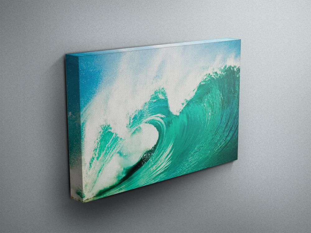 "Breaking Waves - Fine Art Photograph on Gallery Wrapped Canvas - 16x12"" & more"