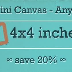 Any Three 4x4 Mini Canvas Prints
