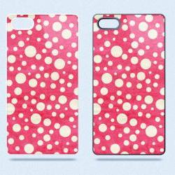 Hot Pink and Cream Polka Dots - Hard Cover Case for iPhone 4, 4S & more