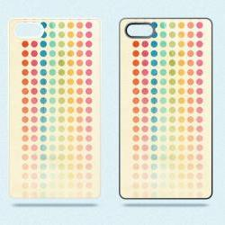 Cream and Colorful Spots - Hard Cover Case for iPhone 4, 4S & more
