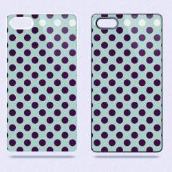 Purple Polka Dots - Hard Cover Case for iPhone 4, 4S & more