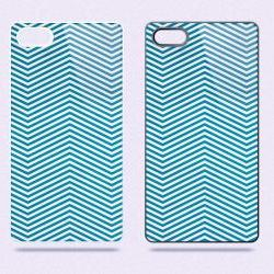 Blue Chevron - Hard Cover Case for iPhone 4, 4S & more