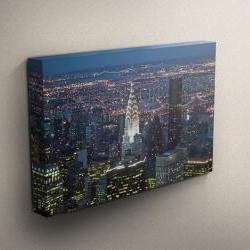 """New York City at Night - Fine Art Photograph on Gallery Wrapped Canvas - 16x12"""" & more"""