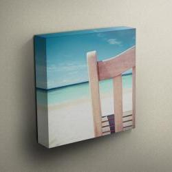 """Beach Chair View - Fine Art Photograph on Gallery Wrapped Canvas - 16x12"""" & more"""