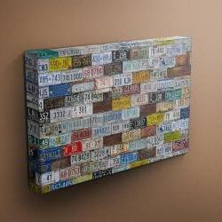 """US License Plates Collection - Fine Art Photograph on Gallery Wrapped Canvas - 16x12"""" & more"""