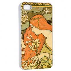 Paris Vintage Retro Art Deco Illustration - Hard Cover Case for iPhone 4, 4S & more