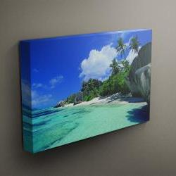 "Tropical Beach - Fine Art Photograph on Gallery Wrapped Canvas - 16x12"" & more"