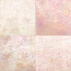 "Pink Bokeh - Set of 4 Mini Gallery Wrapped Canvas - 4x4"" & more"