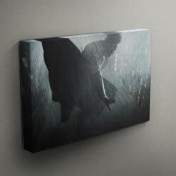 "Superhero Flying Through The Rain - Fine Art Photograph on Gallery Wrapped Canvas - 16x12"" & more"