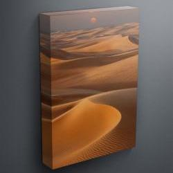 """Sunset over sand dunes - Fine Art Photograph on Gallery Wrapped Canvas - 16x12"""" & more"""
